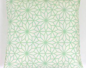 Cojín Exterior Estampado Flor Geometrica Verde Mint