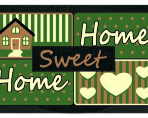 Felpudo Original Home Sweet Verde