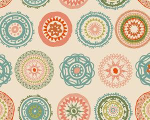 Hule Económico a Medida Mantel Mandalas Pastel